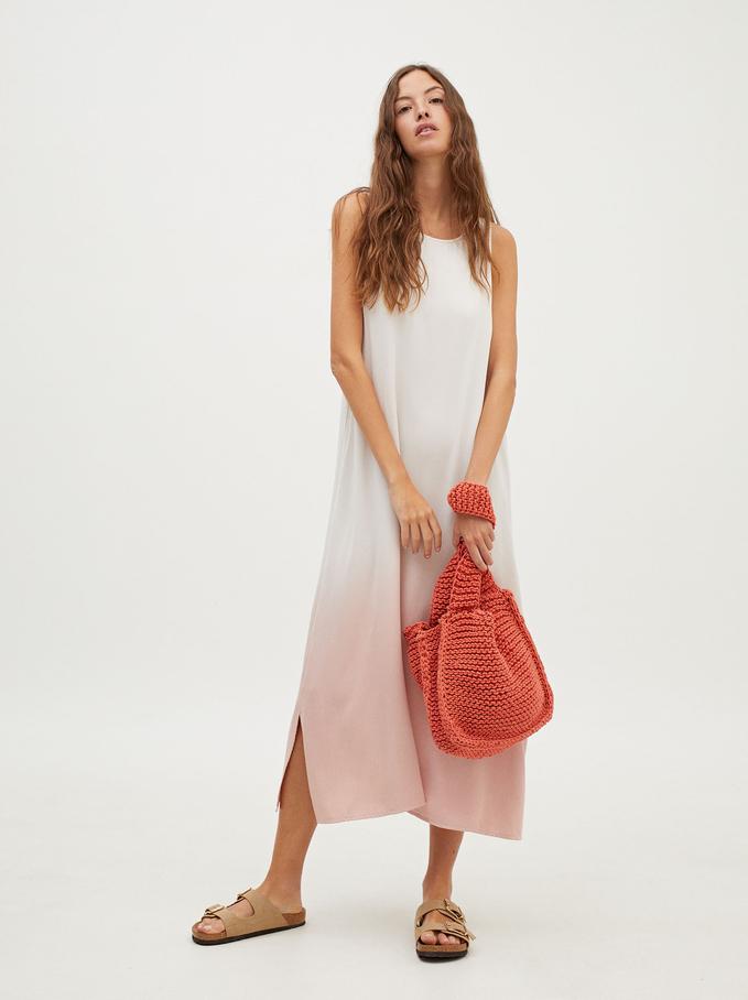 Sukienka Na Ramiaczkach, Rózowy, hi-res