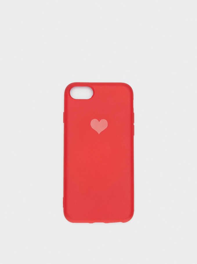 Funda Para Móvil Corazón Iphone 6, 7 Y 8, Rojo, hi-res