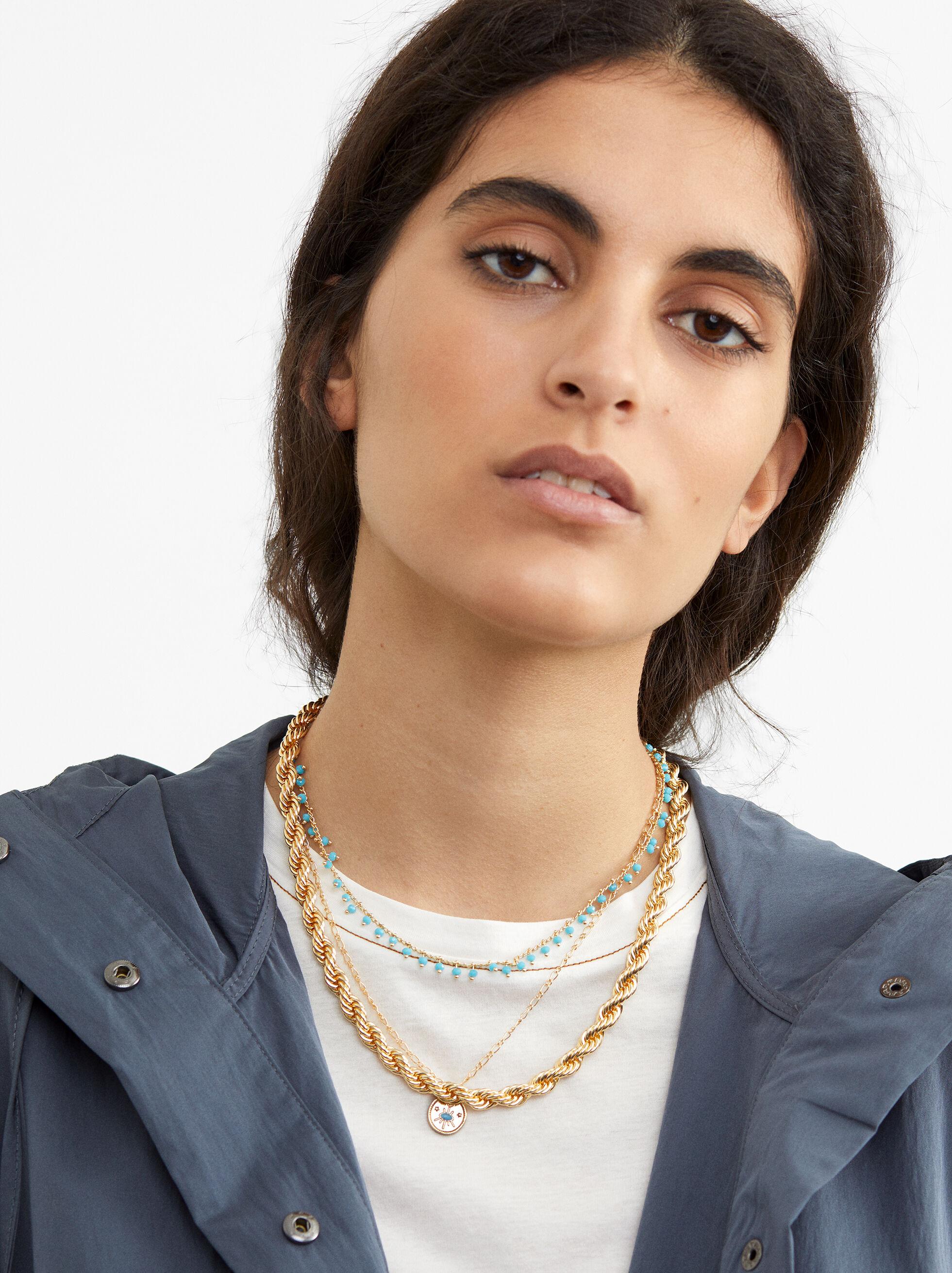Hoop Fever Set Of Necklaces, Beige, hi-res