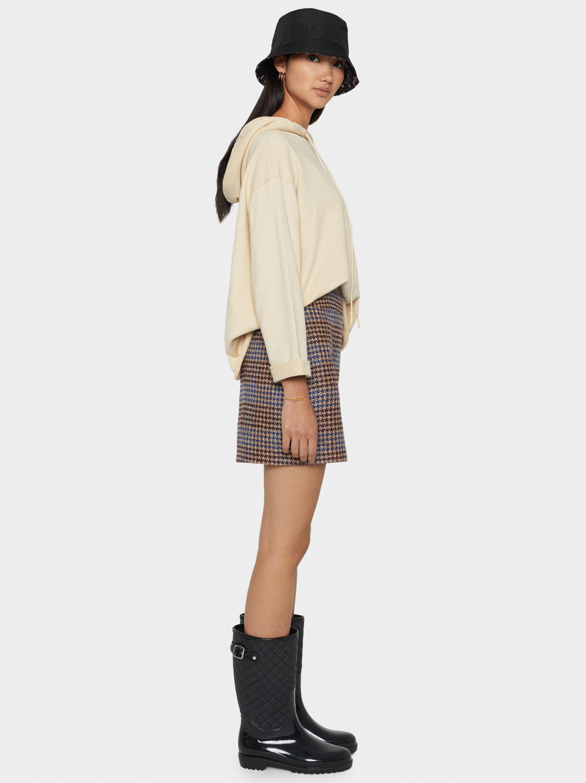 Check Tweed Skirt, , hi-res