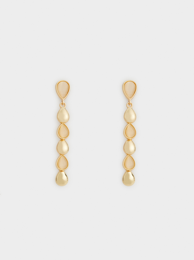 Long Gold Earrings, Golden, hi-res