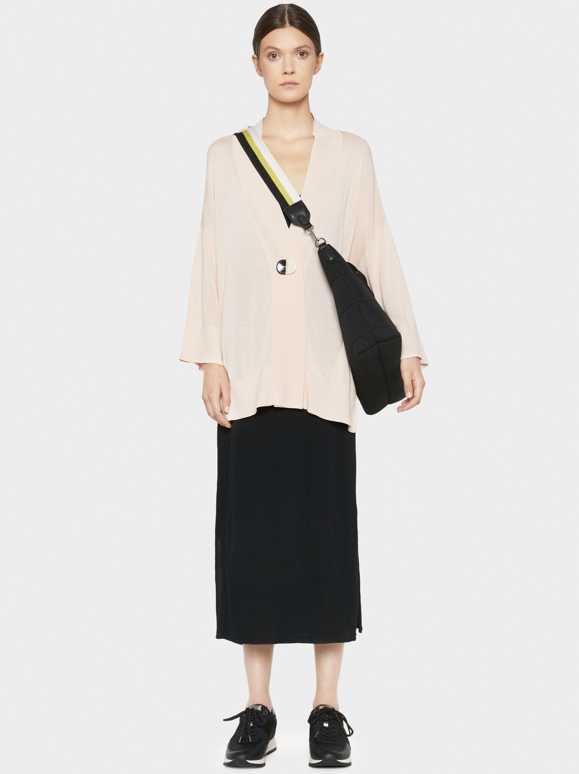 Poncho With Button Detail, , hi-res