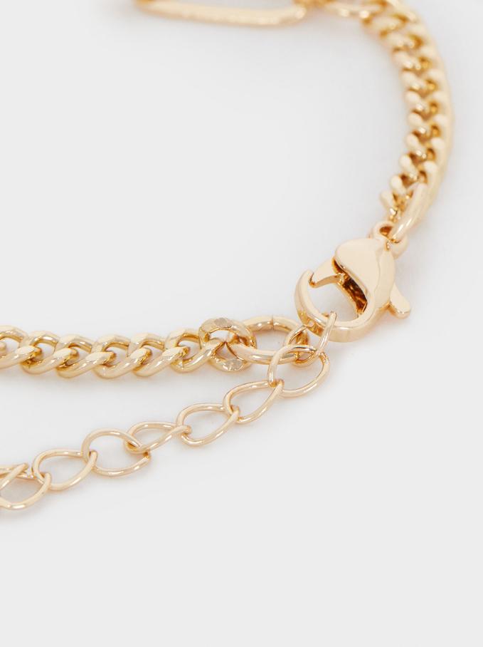Gold Bracelet With Gems, Golden, hi-res