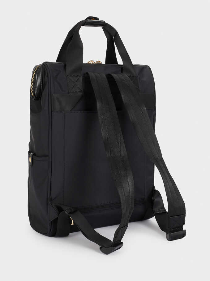 Nylon Backpack , Black, hi-res