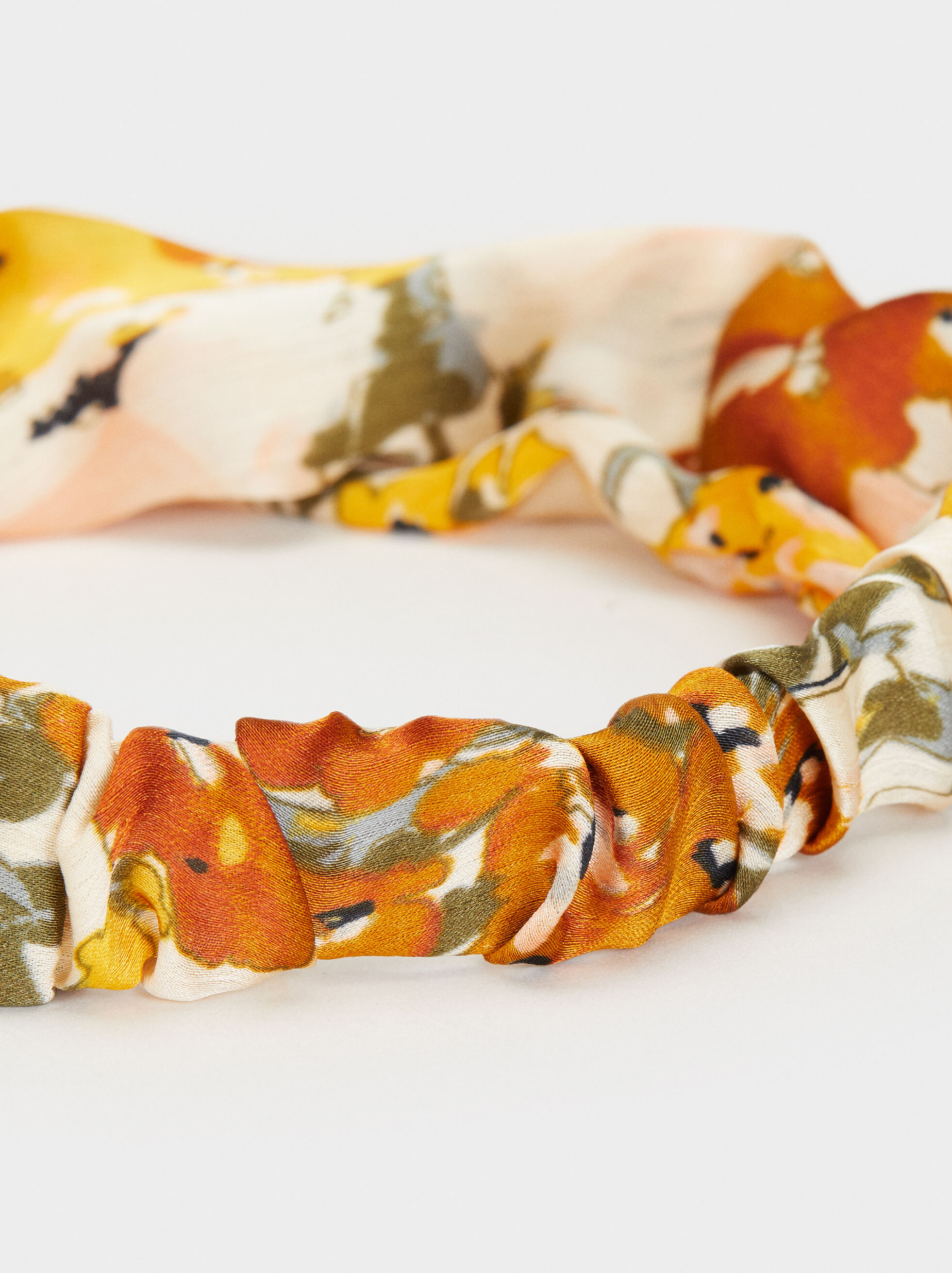 Floral Print Knot Headband, Multicolor, hi-res