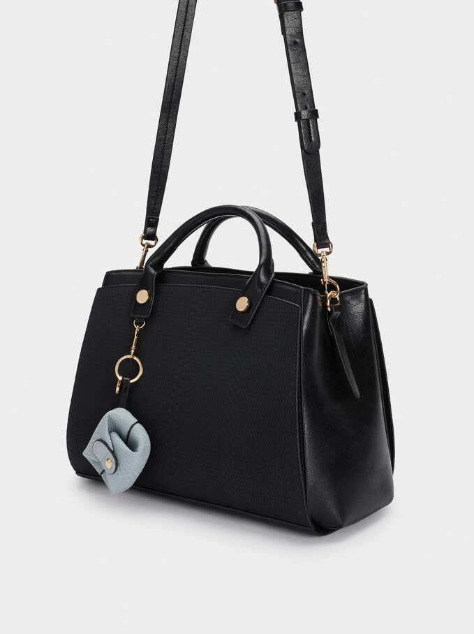Bolso Shopper Combinado Exterior Removible, Negro, hi-res