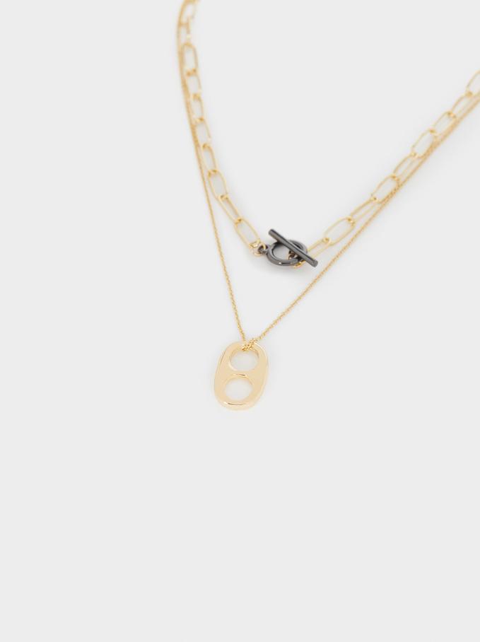 Links Necklace Set, Multicolor, hi-res