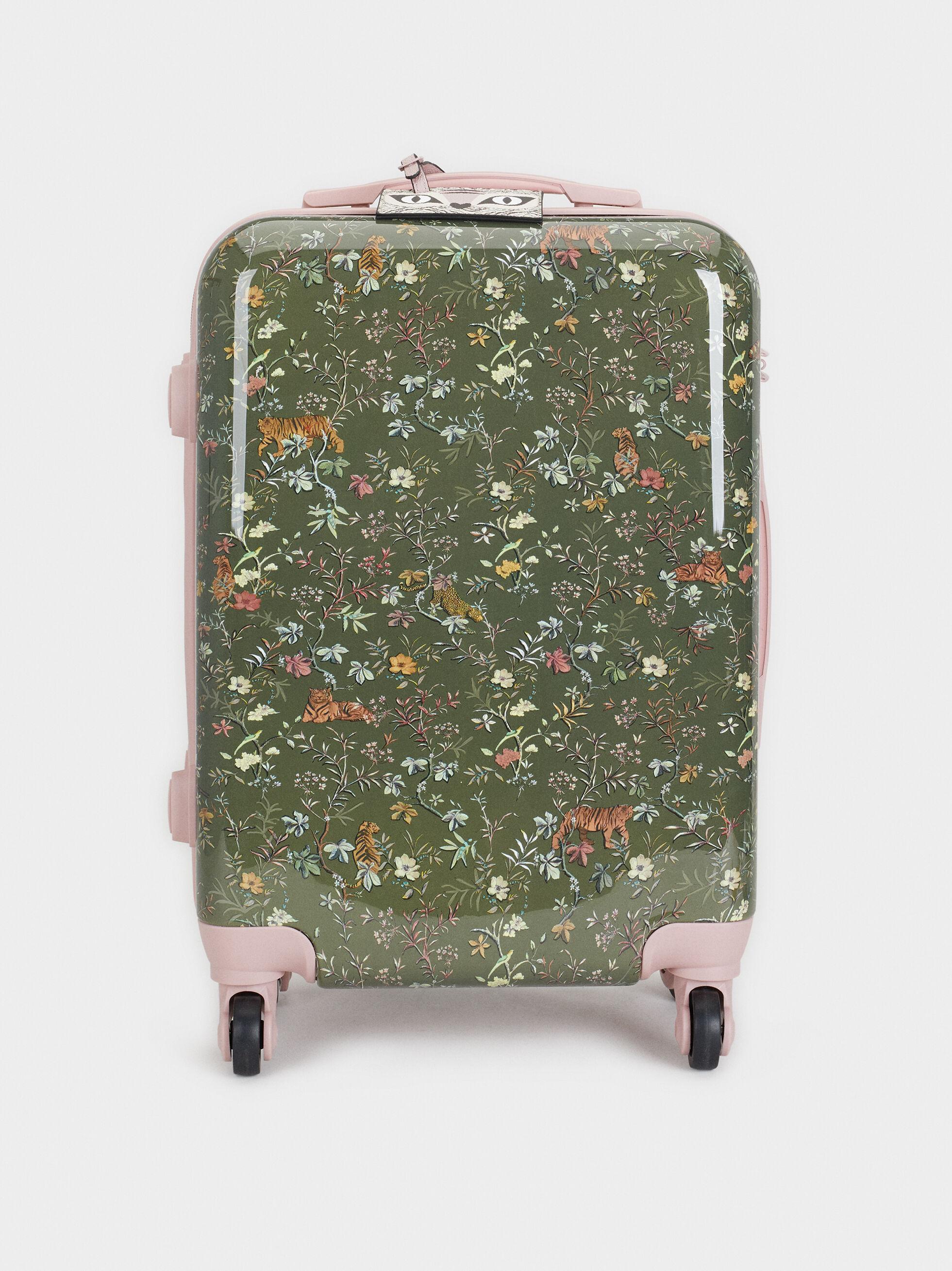 Print Carry-On Bag, Khaki, hi-res