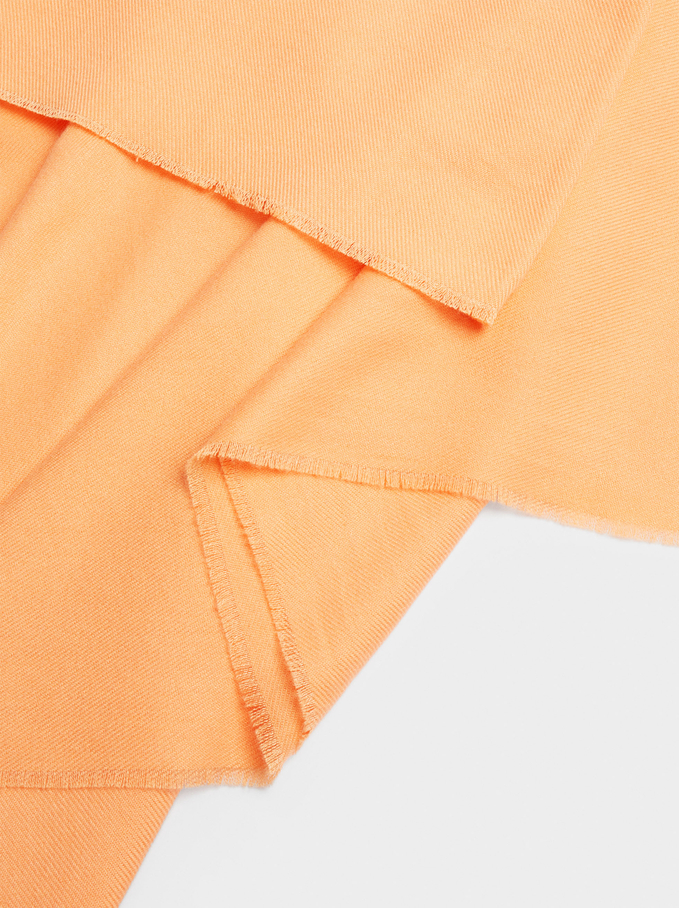 Plain Maxi Scarf, Orange, hi-res
