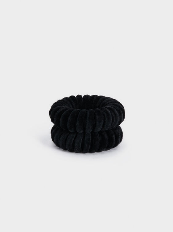 Velvet Scrunchie, Multicolor, hi-res