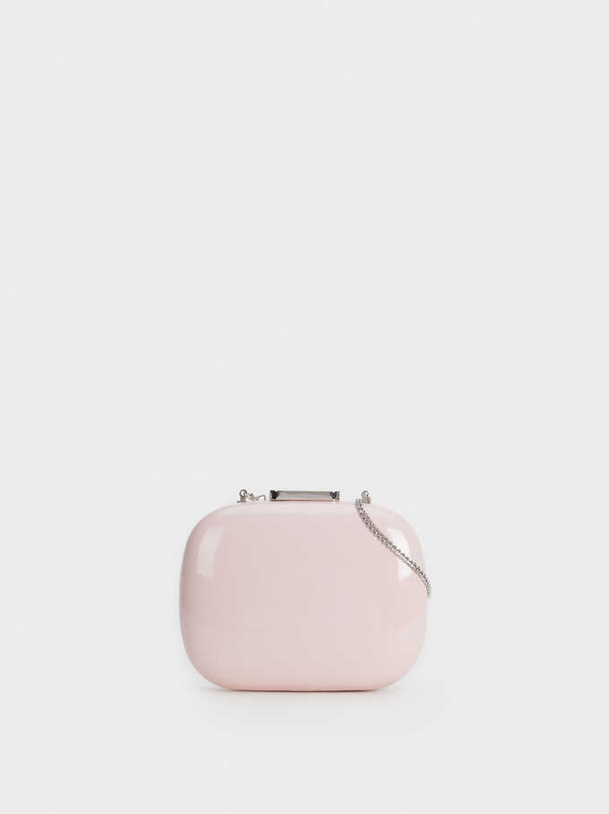 Crossbody Evening Clutch, Pink, hi-res