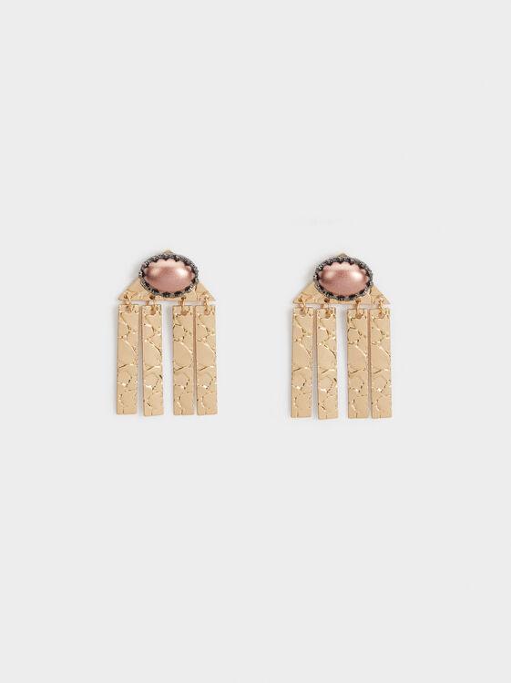 Savage Party Long Earrings, Pink, hi-res