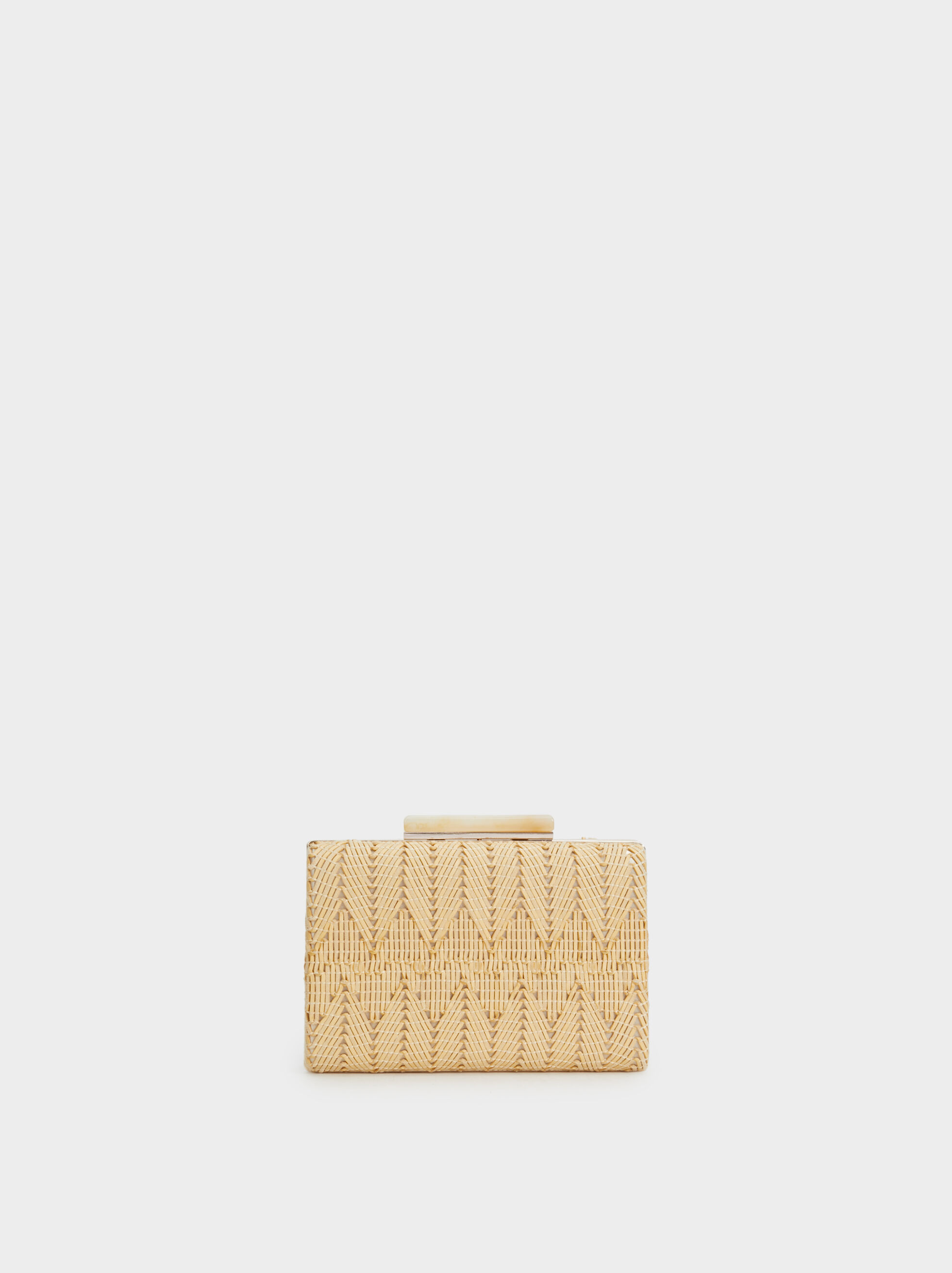 Raffia Effect Party Clutch, , hi-res