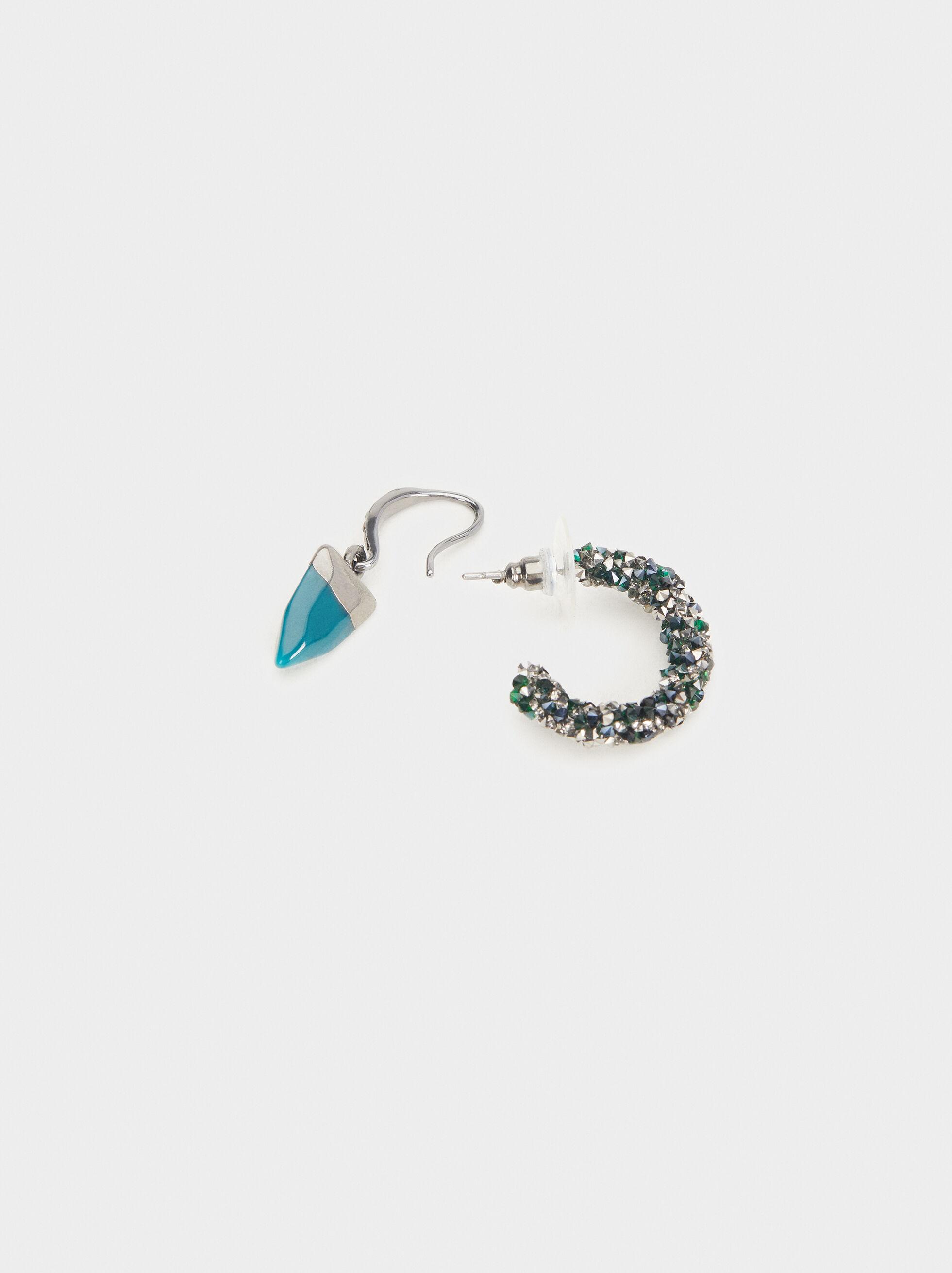 Botanic Party Hoop Earrings Set, Multicolor, hi-res