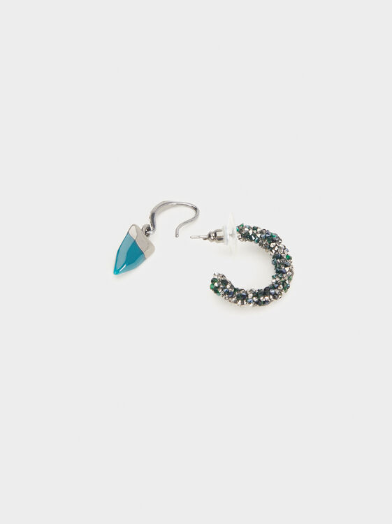 Botanic Party Hoop Earrings Set, Multicolor, hi-res