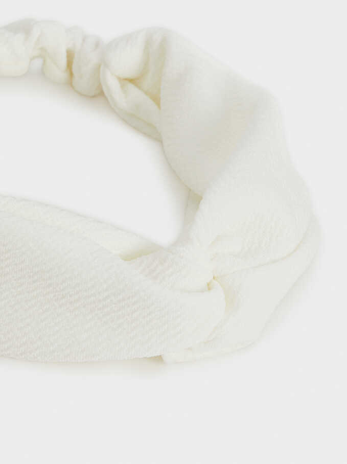 Basic Headband, White, hi-res