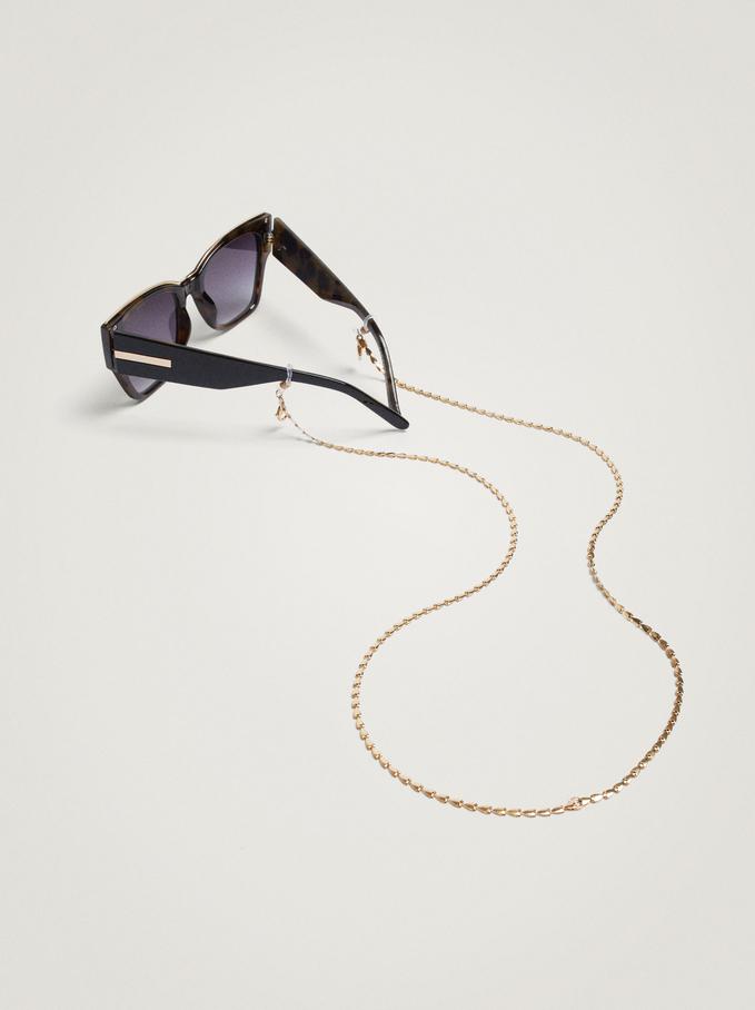 Chain For Face Masks Or Glasses, Golden, hi-res