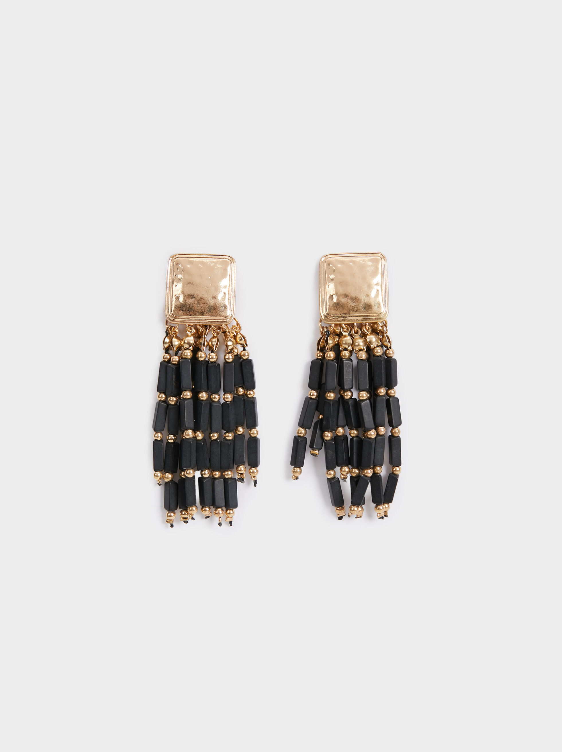 Blog Long Earrings With Fringe, Multicolor, hi-res