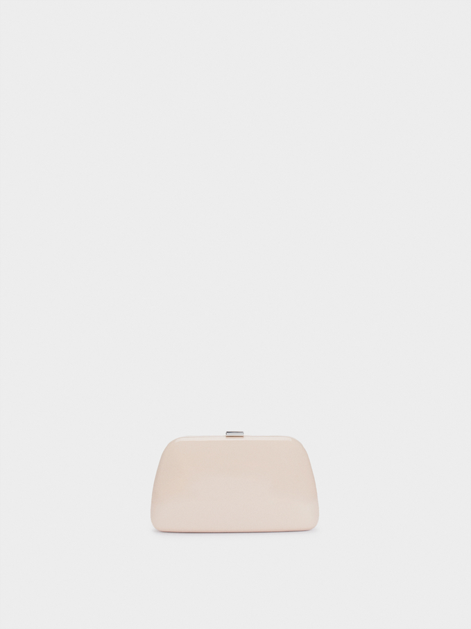 Party Clutch With Chain Handle, Pink, hi-res