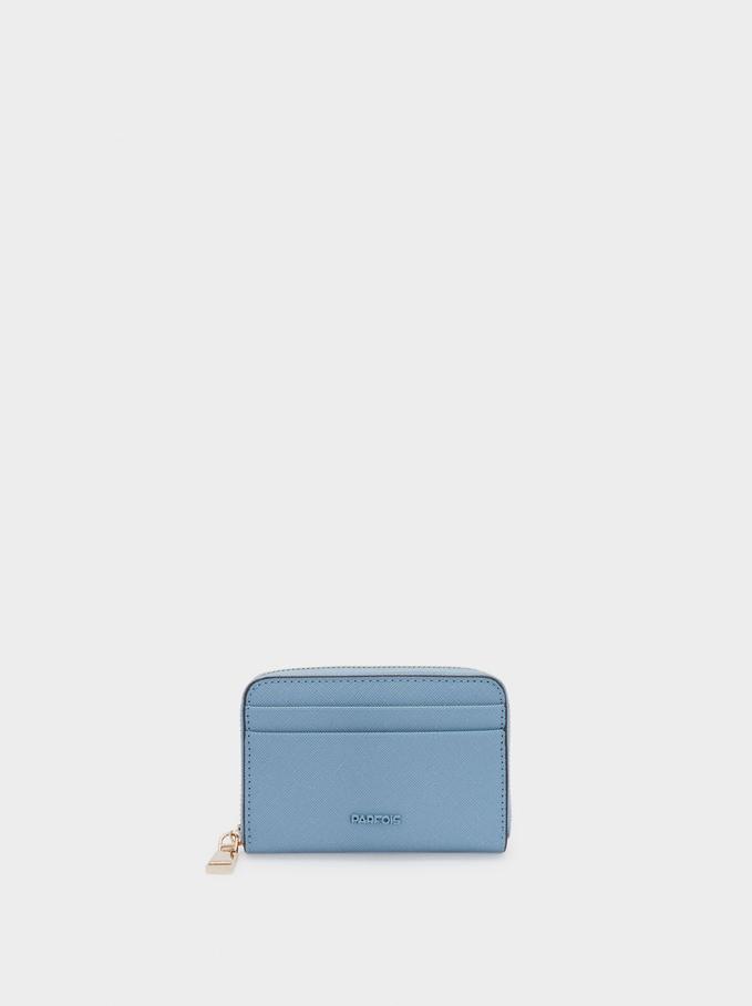 Cartera Lisa Compacta, Azul, hi-res