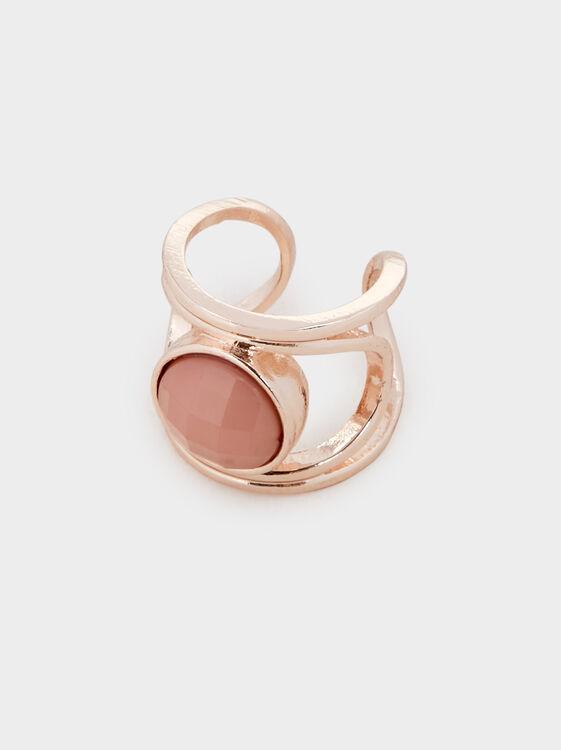 Pink Desert Ring With Stone, Orange, hi-res