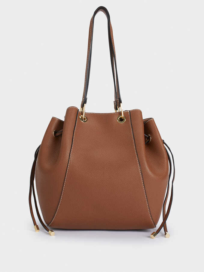 Shoulder Bag With Removable Interior, Camel, hi-res