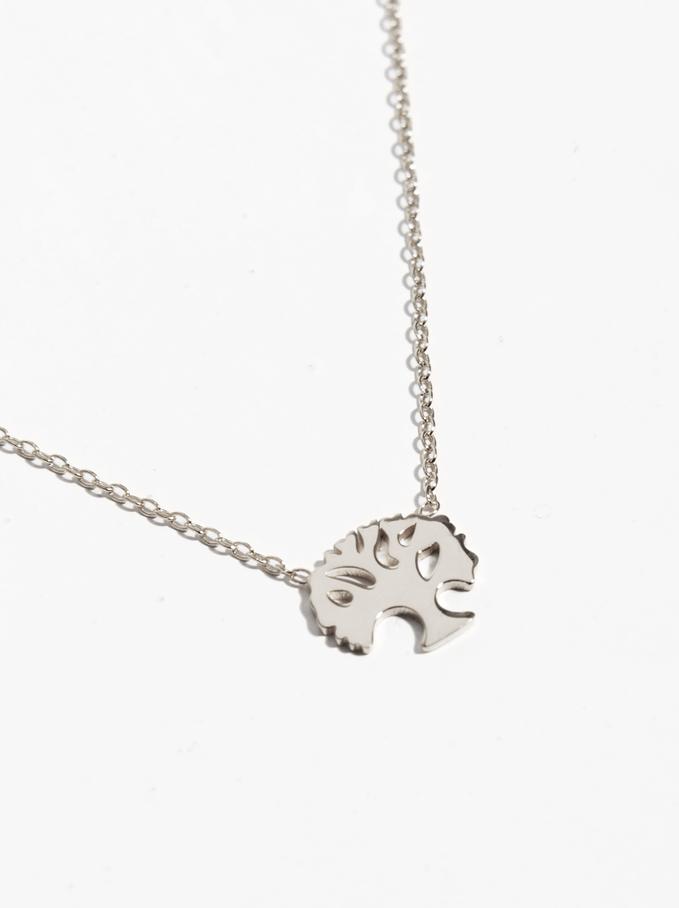 Short 925 Silver Tree Necklace, Silver, hi-res