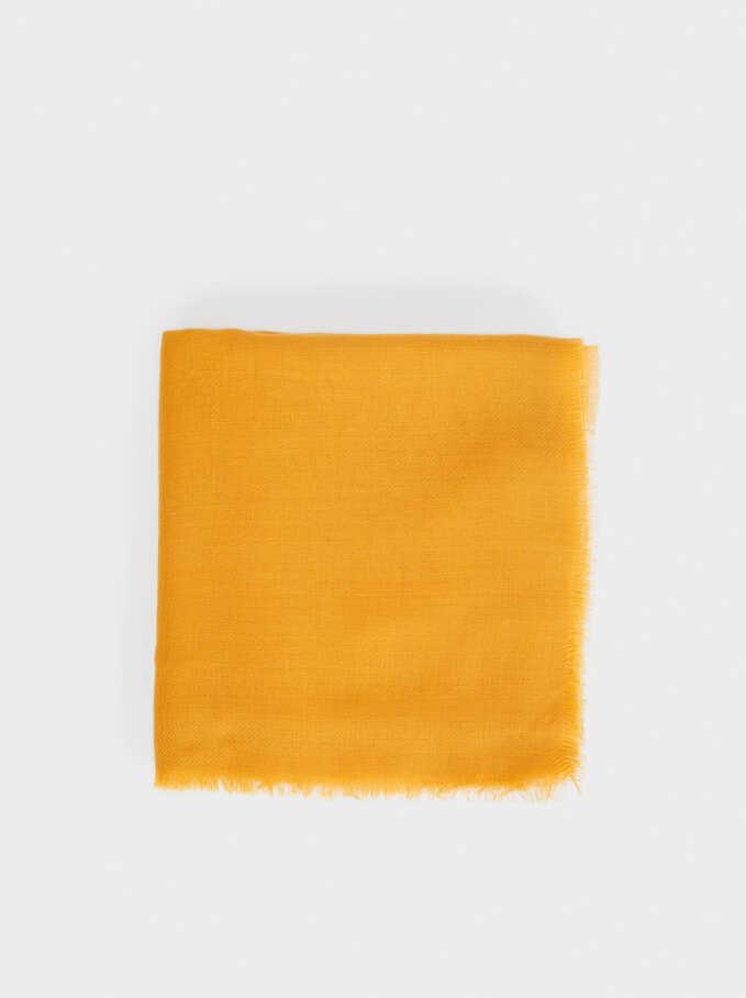 Plain Pashmina, Mustard, hi-res