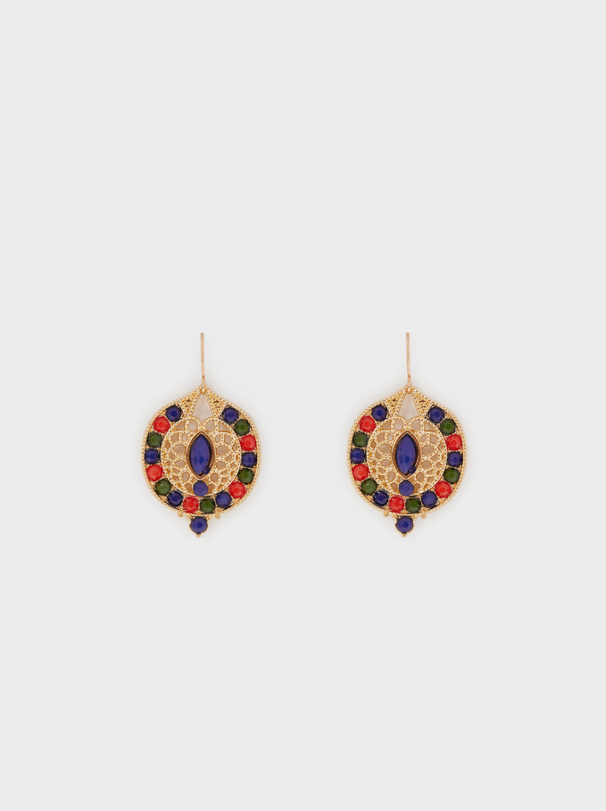 Tropicalia Medium Drop Earrings, Blue, hi-res