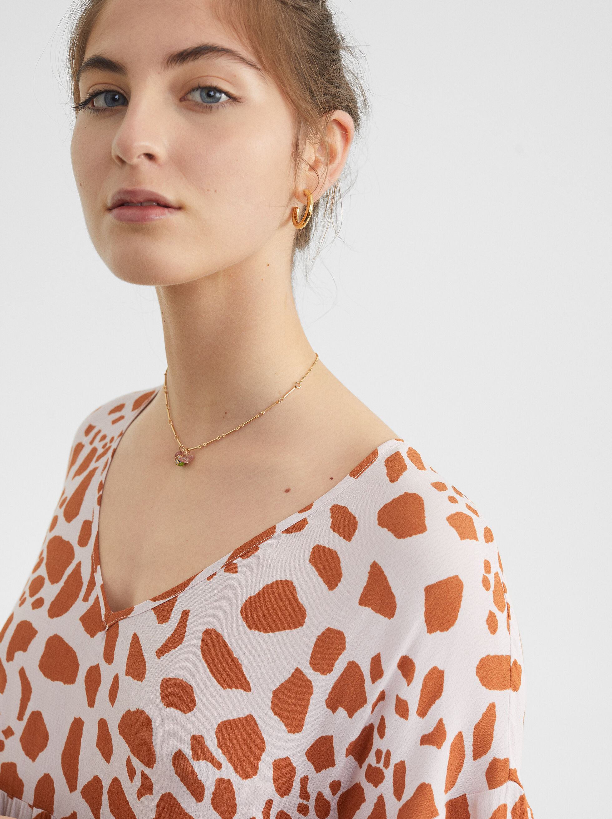 Animal Printed Dress, Pink, hi-res