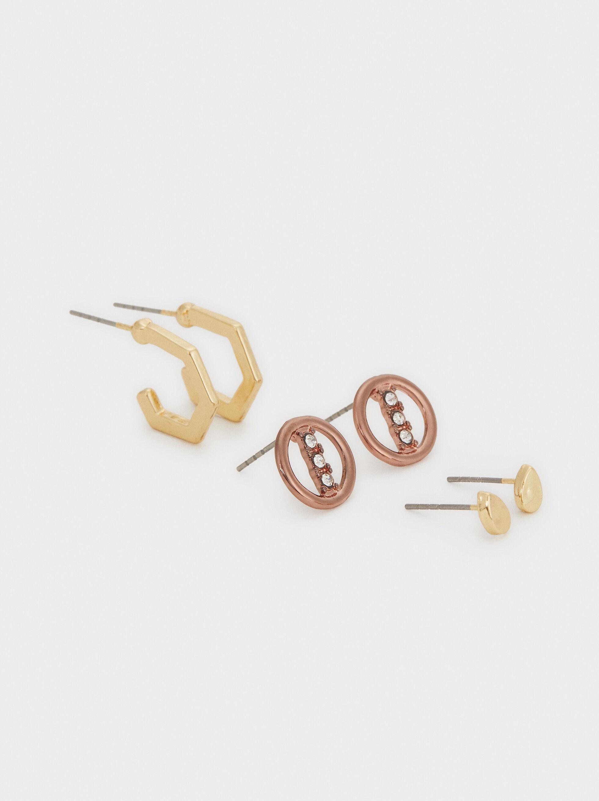 Blog Hoop Earring Set, Multicolor, hi-res