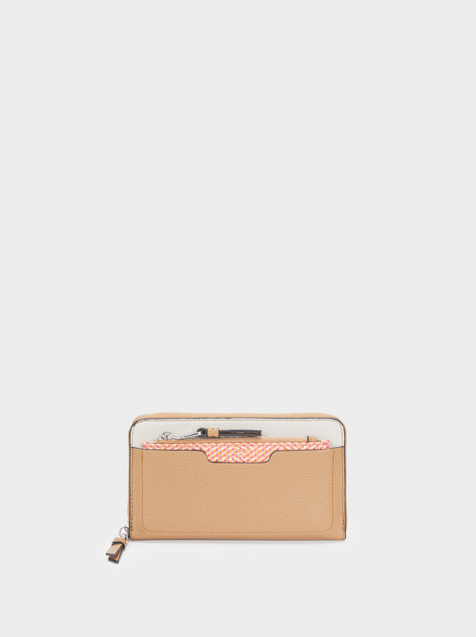 Wallet With Removable Coin Purse, Beige, hi-res