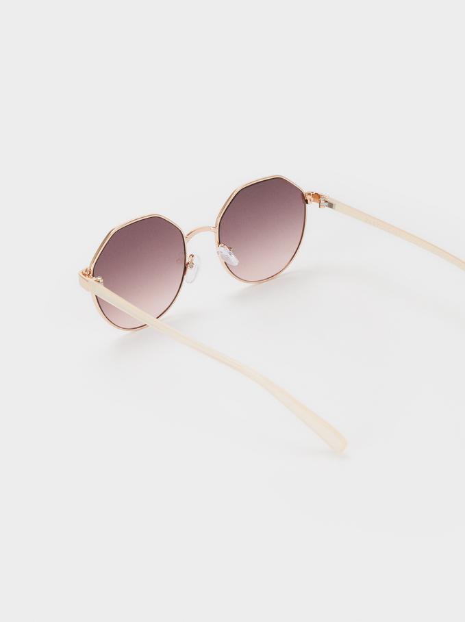 Metal Sunglasses, White, hi-res