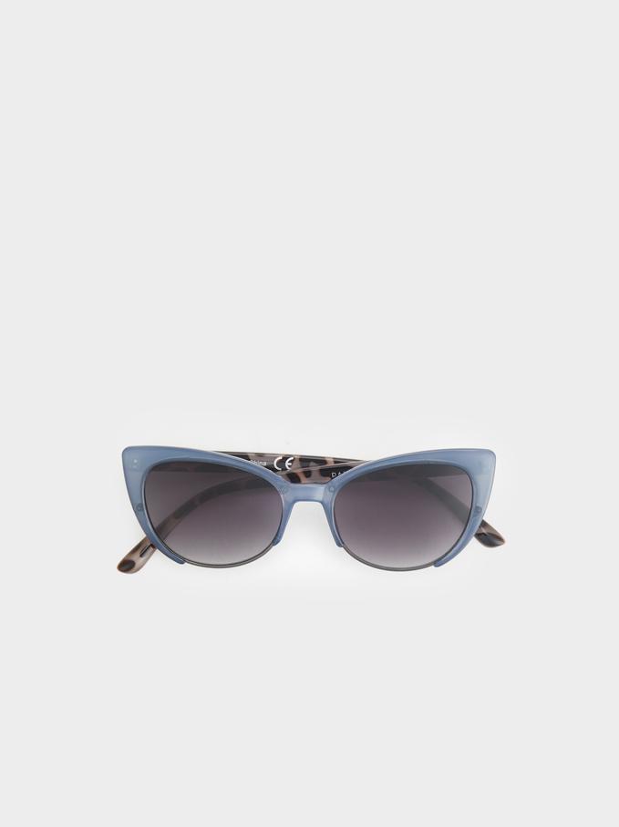 Cat Eye Sunglasses, Blue, hi-res