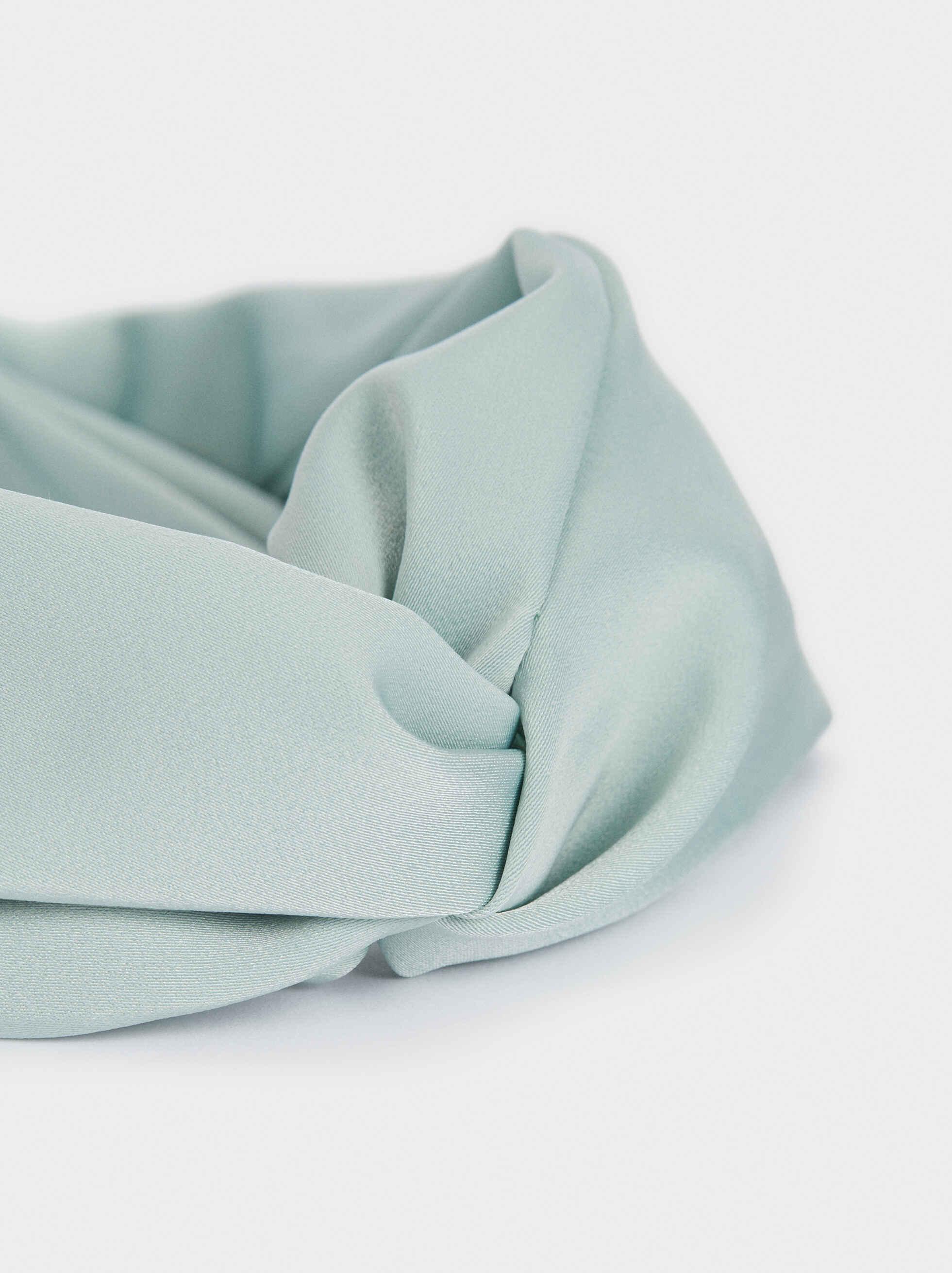 Diadema Turbante Estampado Multicolor, Gris, hi-res