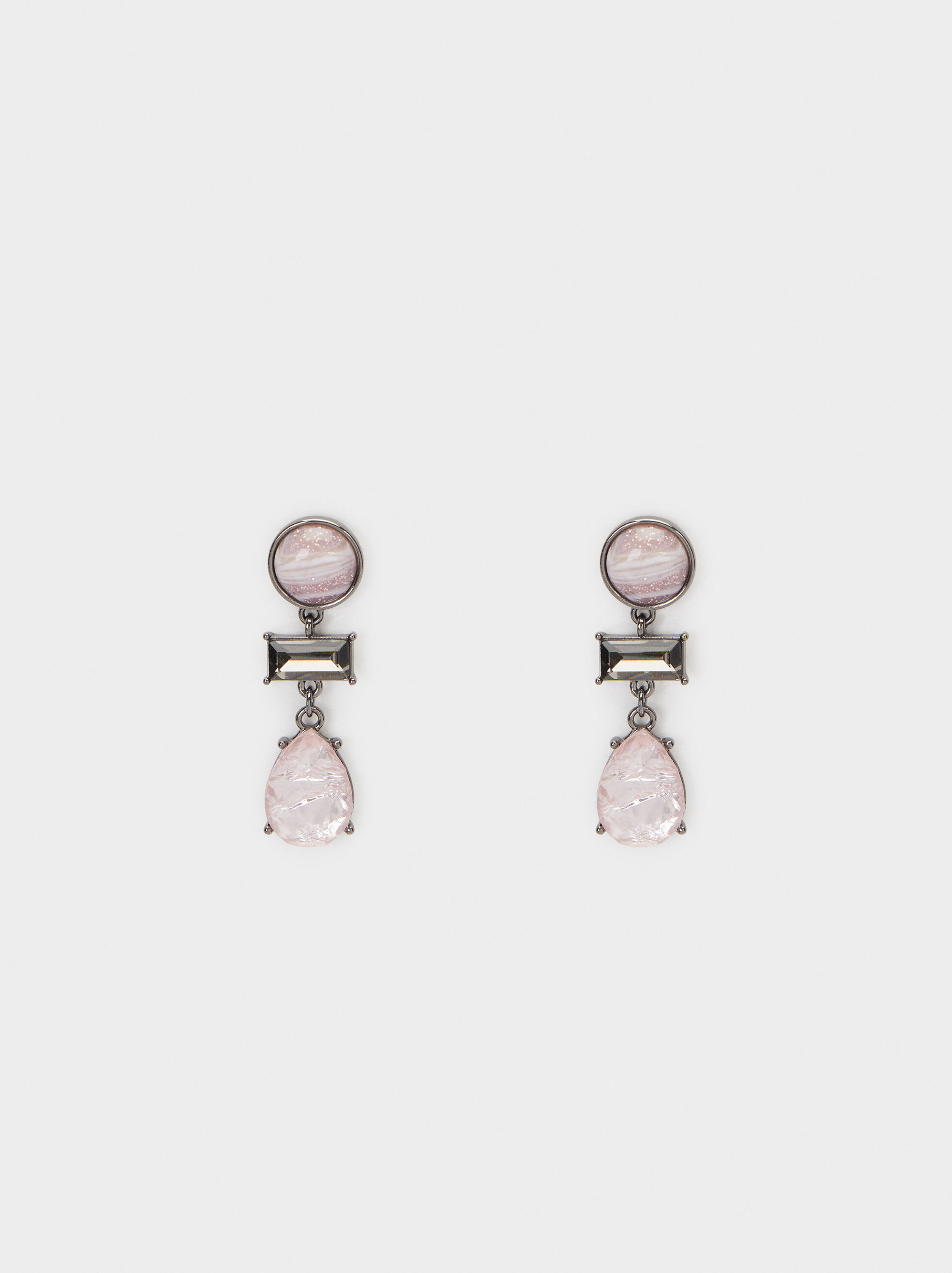 Cosmic Pink Medium Earrings, Multicolor, hi-res