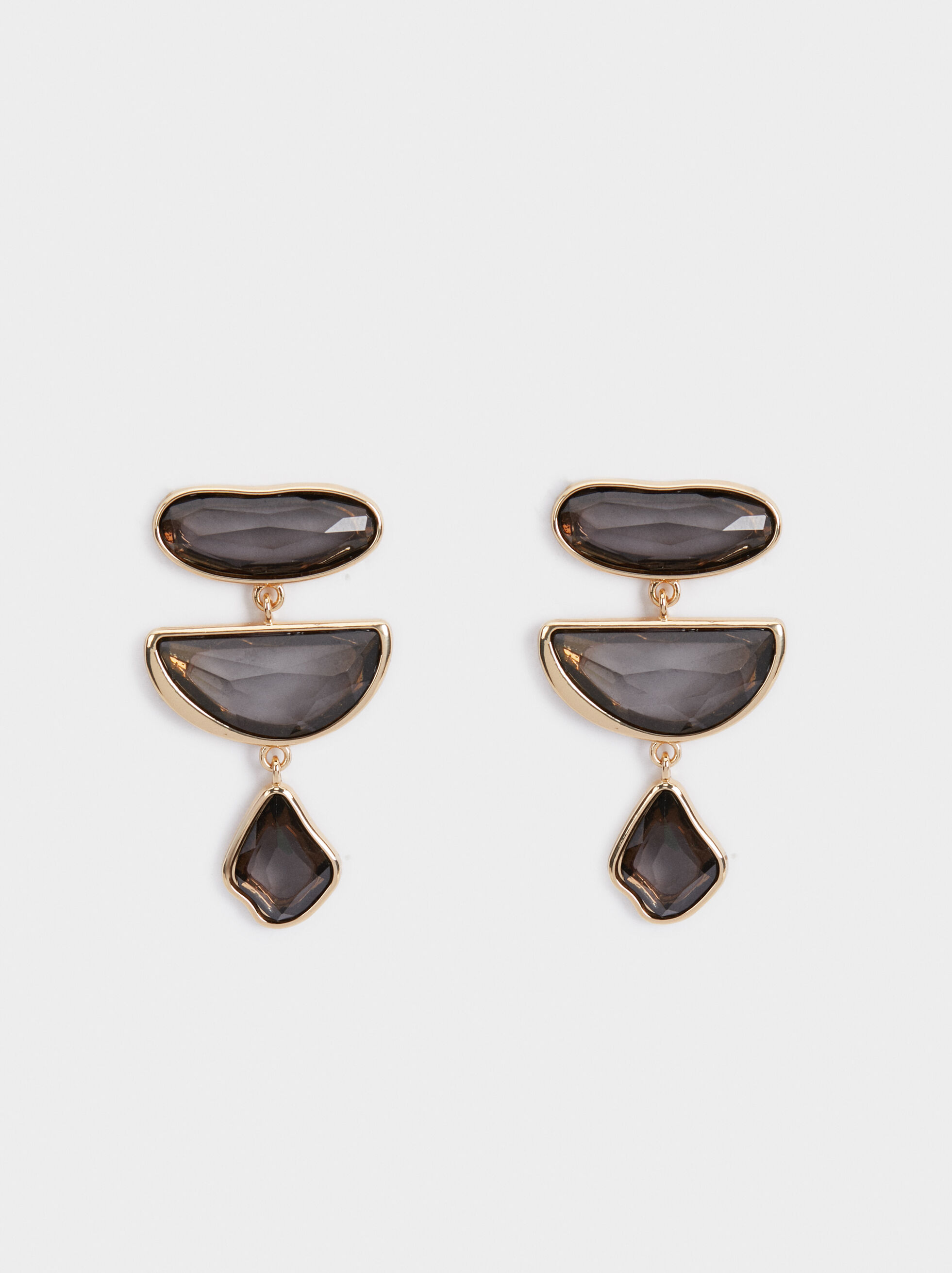 Exclusive Collection Earrings, Brown, hi-res