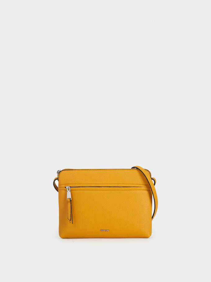 Plain Crossbody Bag, Mustard, hi-res