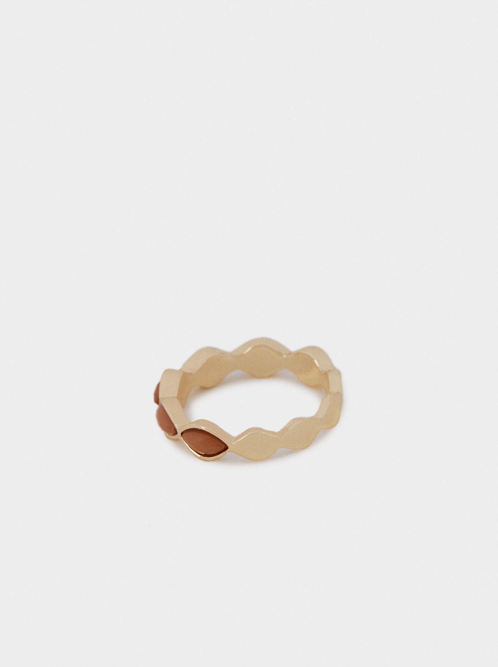 Multicoloured Ring, Camel, hi-res