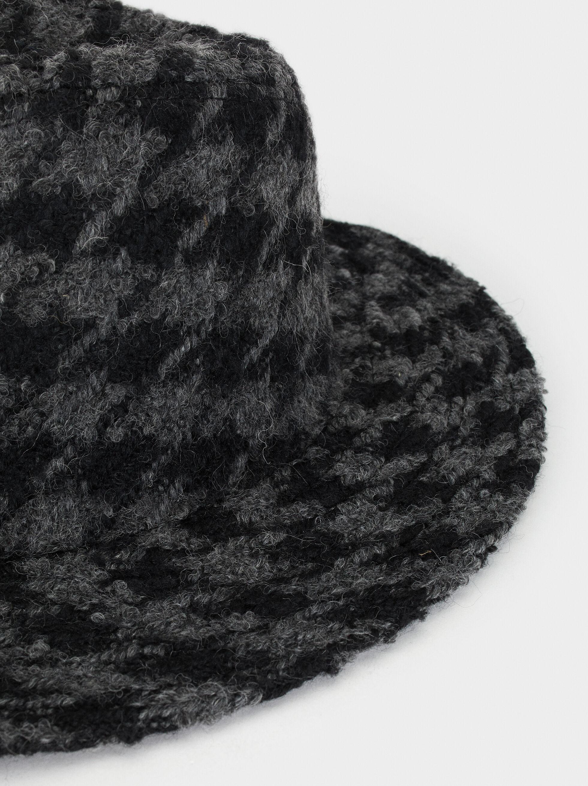 Check Tweed Hat, Multicolor, hi-res