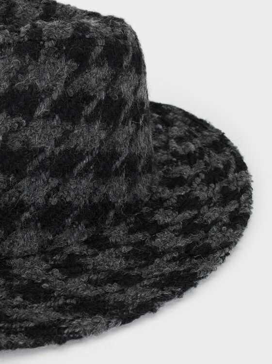 Check Tweed Hat, Multicolor, hi-res