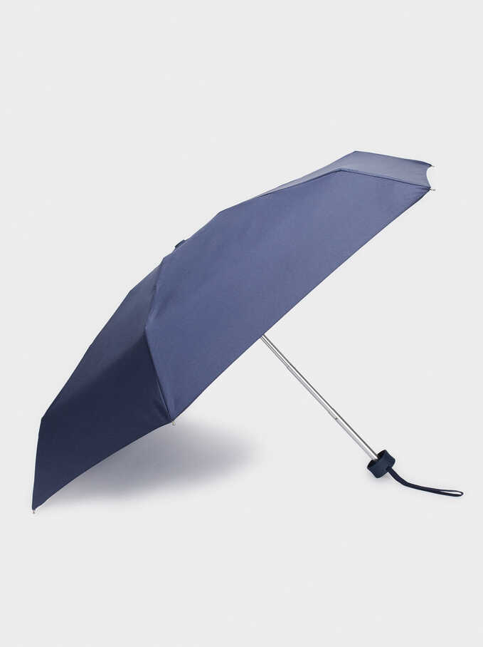 Small Folding Umbrella, Navy, hi-res