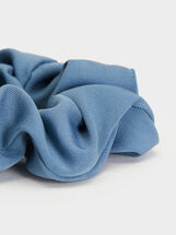 Basic Scrunchie, Blue, hi-res