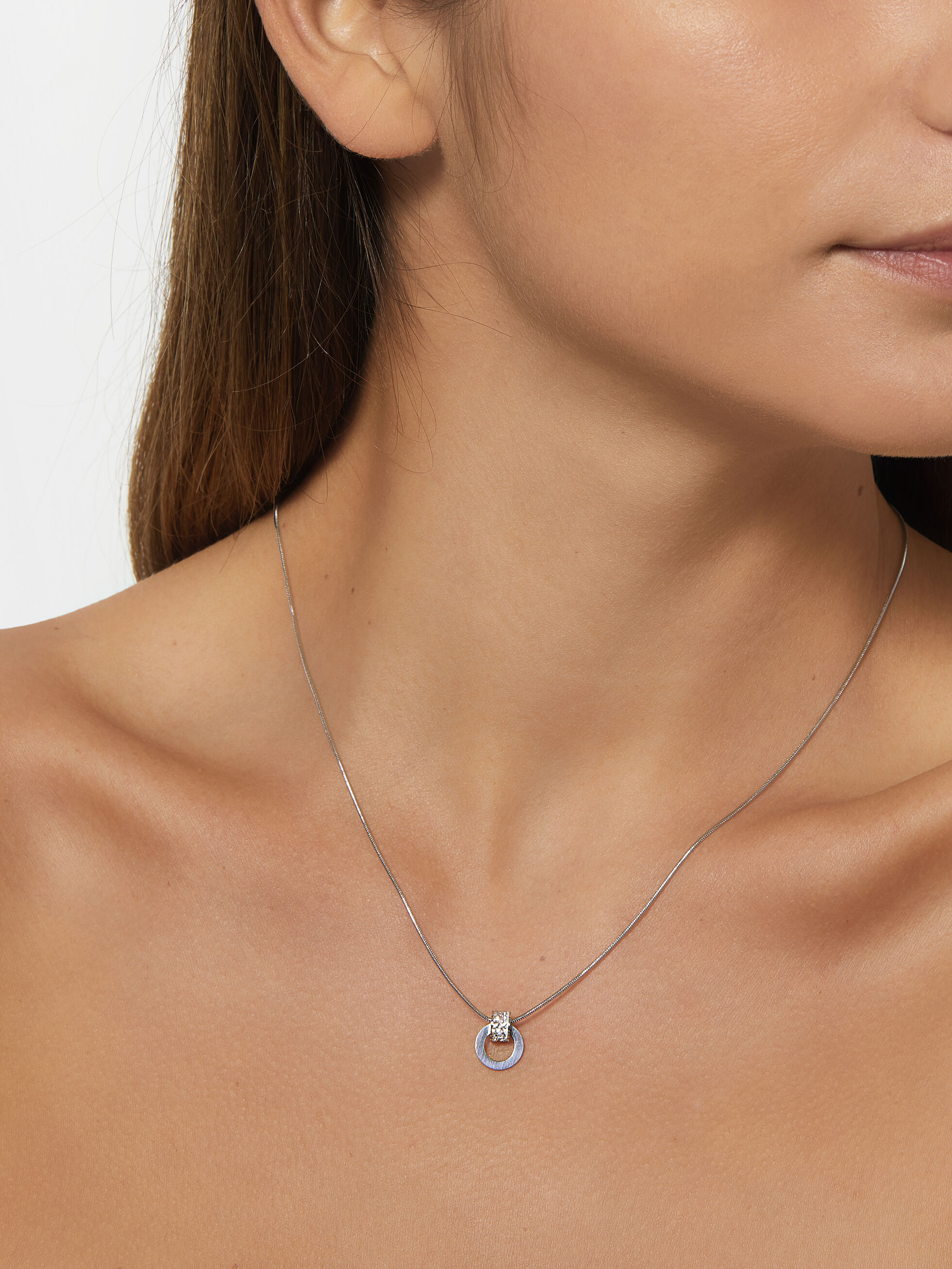 Stainless Steel Necklace, Silver, hi-res