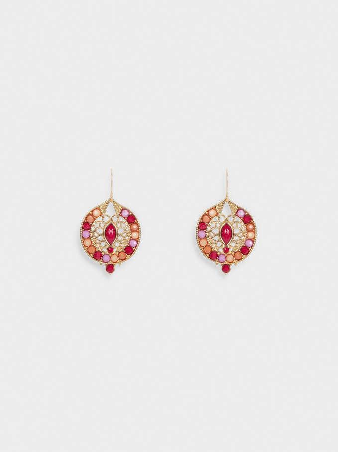 Boucles D'Oreilles Avec Perles Fantaisie, Multicolore, hi-res