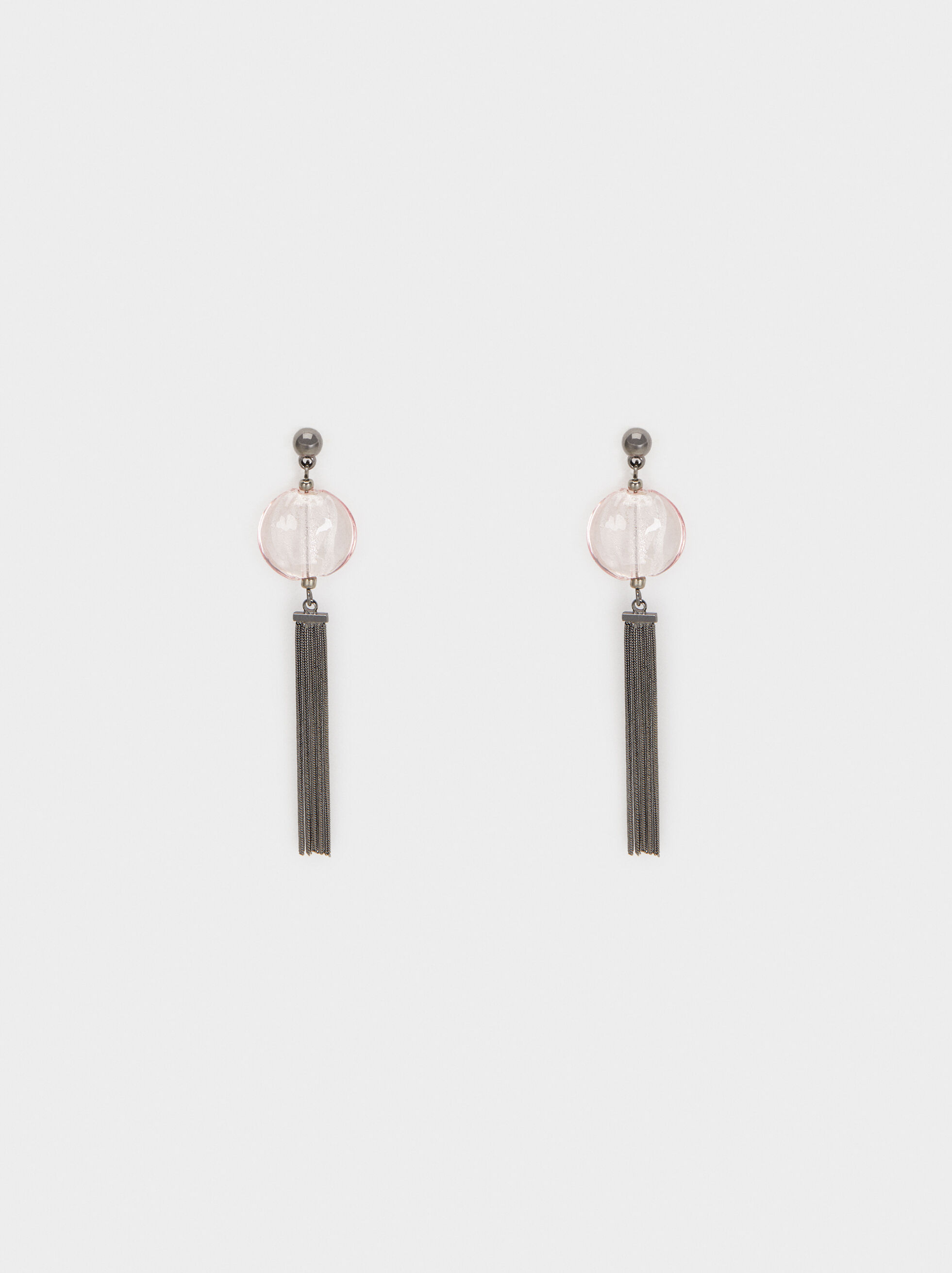 Cosmic Pink Long Earrings, Multicolor, hi-res