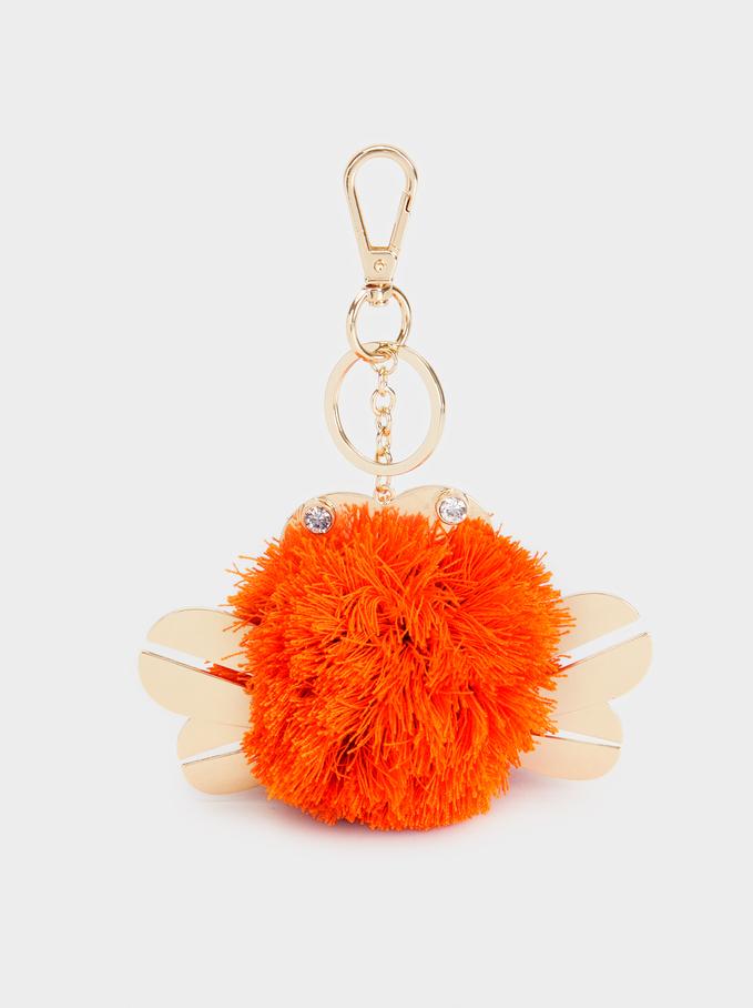 Crab Key Ring, Orange, hi-res
