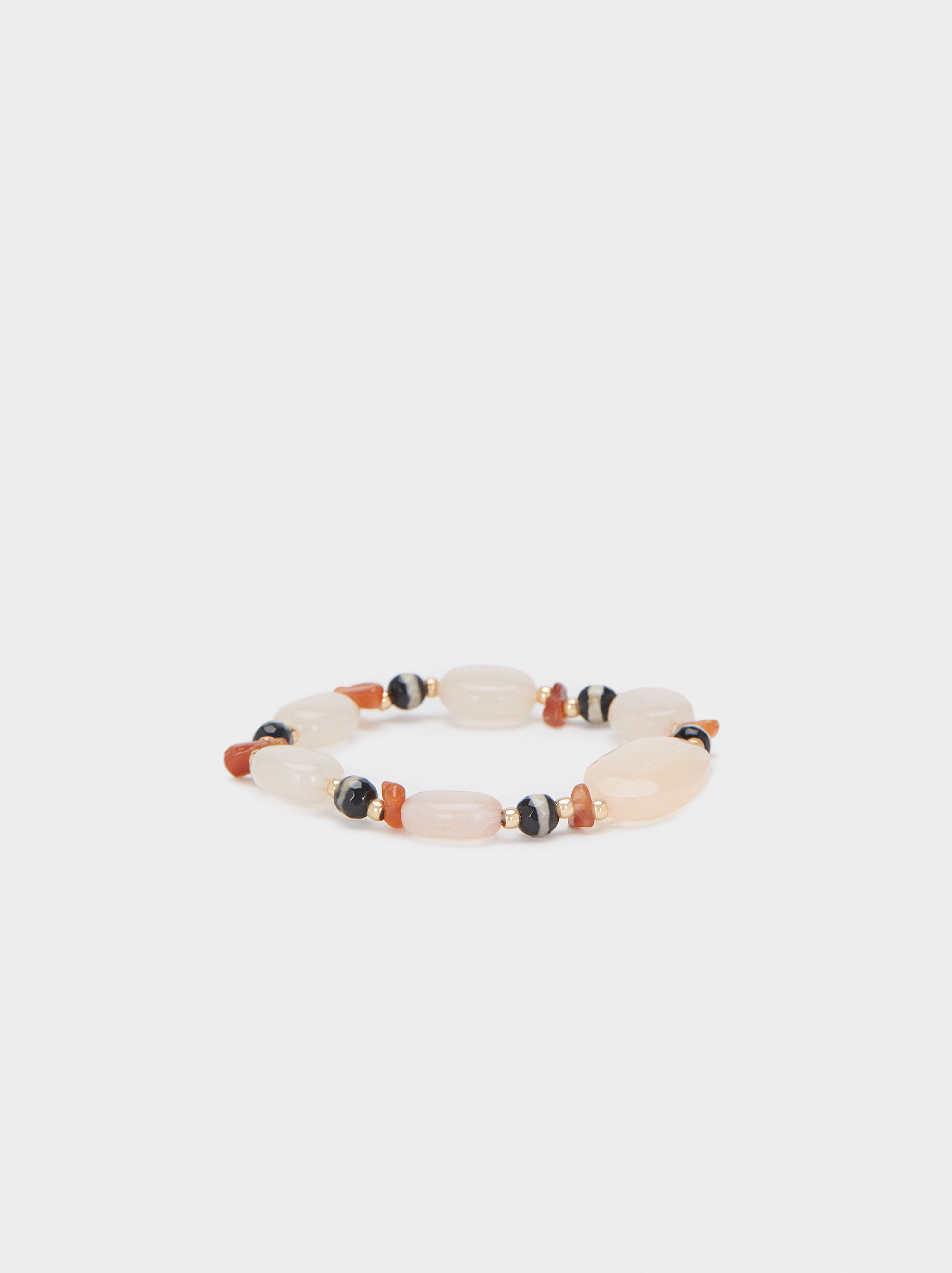 Elasticated Bracelet With Multicoloured Stones, Multicolor, hi-res