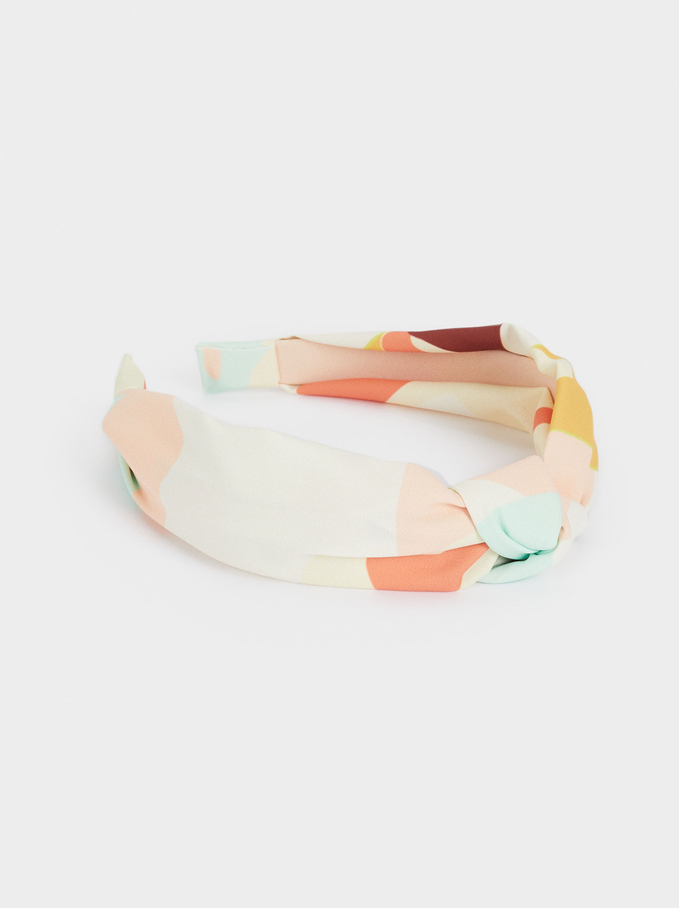 Printed Knot Headband, Multicolor, hi-res