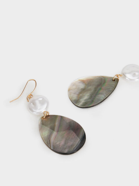Medium Stone Earrings, Golden, hi-res